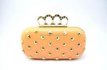 Beaded Evening Clutch Bags Metal Stud