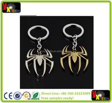 Marvel Super Hero Spiderman Alloy Spider Key Chains The AvengersThe Amazing Spider-Man Metal Key Ring Pendant Charm Keychain
