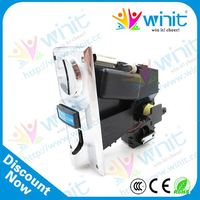 Coin selector for coin operated ice vending machine/coin operated kids ride machine/coin operated laundry machine