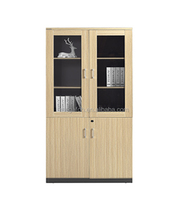 Wholesale office furniture wood file cabinet with glass door(FOH-KYWA202)