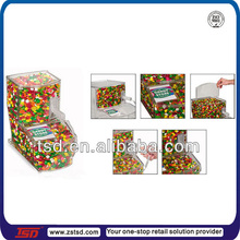 TSD-A804 clear acrylic bulk food bin/coffee bean dispenser/bulk feed bins for sale