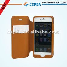 2012 New Fashion Design book like Leather case for iphone 5