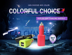Hot sale 12v 2a output portable dual usb car charger
