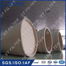 PPS dust collector filter bag,oil water repellent finished filter bag