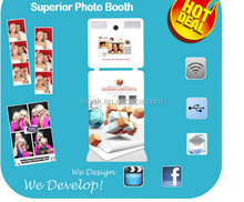 new commercial promotion photo booth kiosk with wheels for sale