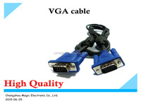 wholesale high quality 15 Pin Male to Male VGA Cable with Factory Price