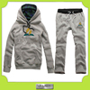 Custom high quality track suit no zipper printing hoody sweatshirt and pants w/ your logo