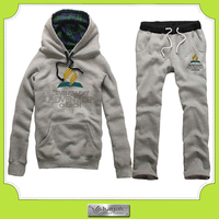 Custom high quality track suit no zipper printing hoody sweatshirt and pants w/ your logo