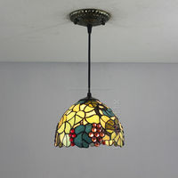 "12"" tiffany stained glass pendant lamp"