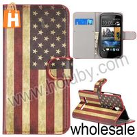 Magnetic Wallet Flip Stand Leather Book Case for HTC Desire 500 with Card Slot