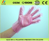 disposable pink household PE gloves plastic gloves