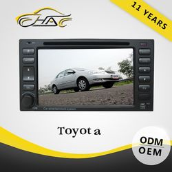 6.2 inch double din universal in dash car dvd play for toyota corolla camry 2004 2005