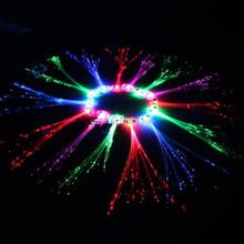 Fashion LED Hair Extensions, Flash hair braid, fiber optic LED hair accessories SJ-LHB026