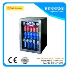 1 door stainless steel beer cooler hotel glass door mini bar fridge for food and beverage