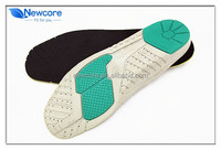 Two colors PU foam shock proof heel cup sport insole