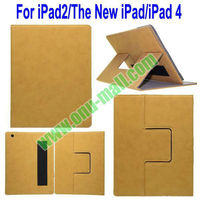 Newest Detachable Split Stand Leather Case for iPad 2 3 4 with Card Slots and Armband Belt