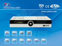 Full HD satellite tv receiver combo set top box with Two TUNERS(DVB-T2+DVB-S2)