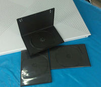 hot selling 14mm black pp dvd case