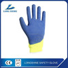 Best selling sale blue Latex coated safety working glove for hand protective