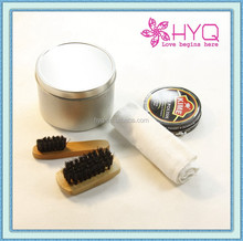 Shoe brush and shoe polish cleaner gifts with tin cans HYQ5783