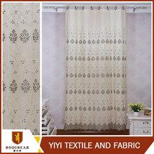 Vendedor superior tratamientos bordado cortina de plástico para cocina