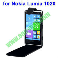 Hot Sale Black Vertical Flip Leather Case for Nokia Lumia 1020