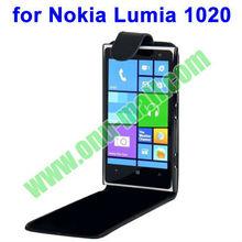 Hot Sale Black Vertical Flip Leather Case for Nokia Lumia 1020