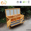 Wood rabbit hutch with pull out tray