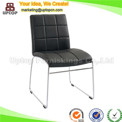 (SP-LC277) Modern custom sled legs dining chair faux leather