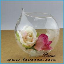 chinese art glass /cheap flower vases / ball shaped glass flower vase