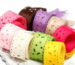Hollow out ribbed band, colorful webbing for DIY hair accessories