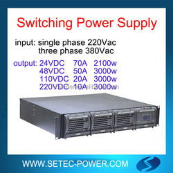 24VDC/48VDC/110VDC/220VDC switching mode power supply with 96% efficiency