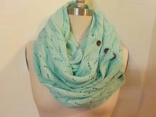 2015 Fashion Round Infinity Scarves-Knit Arcylic Scarf