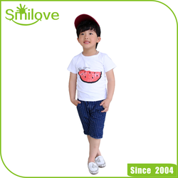 Summer comfortable fashion watermelo kids t shirt cotton t-shirt fashion summer casual children elastic t shirt