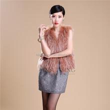 2015 cool real fur vest/ raccoon fur vest / rabbit fur vest for sale