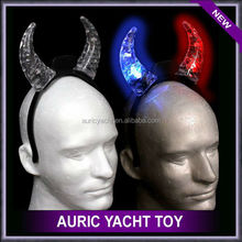 Led glow plastic devil horn hair band