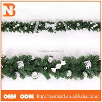 Bowknot balls 270cm christmas wreath, xmas wreath for home decoration