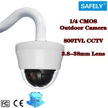 CCTV Security Speed PTZ Dome Camera 1/4 CMOS Outdoor 800TVL 4 inch MINI Weatherproof 10X Zoom