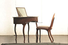Modern design wood dressing table and chair