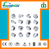 Taiwan high quality din standard pipe fitting, rubber fitting, glass sliding door fitting