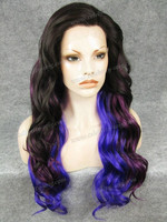Hair styling chic and unique ombre synthetic lace front wig for sale synthetic hair curly wig