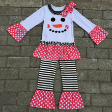 wholesale girls fall outfit 2015 girls cute smile clothing persnickety girls boutique clothing set christmas kids remake outfits