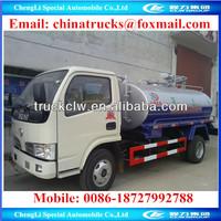 Sewer Septic Tanks 3Tons Vacuum Pump Sewage Tanker Truck