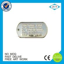 Bulk cheap custom metal military dog tag