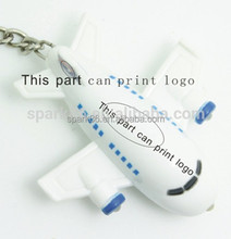 2015 hot sales toy air plane key ring with Light & Sound Effects bulk items