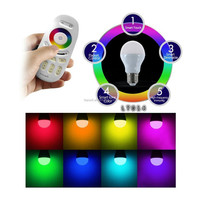potential market over the world Aluminum smart iphone remote control 6w e27 RGBW led lamp lighting wifi led spotlights bulb 6w