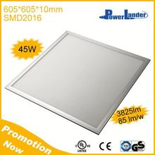 45W 3825lm 605x605mm 1-10V Dimmable Panel Led Light with TUV CE UL Certificates