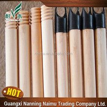 Household cleaning tools 120*2.2 120*2.5cm natural wooden broom handle with italian thread
