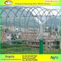 cheap price BTO-10 BTO22 razor barbed wire philippines / razor barbed wire mesh fence