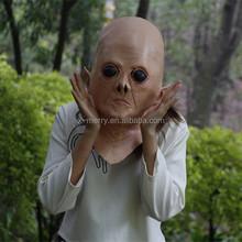 X-MERRY Latex Mens Womens Full Head Fance Dress Horror Alien Mask Rubber Alien Head Costume